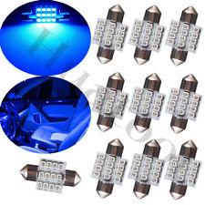 10Pcs Blue LED Festoon Interior Map Dome Lights Bulbs 31mm DE3175 DE3022 3021