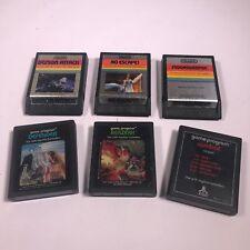 Atari 2600 Loose Video Game Lot of 6 Game Cartridges, Imagic, Combat etc [EQ12]
