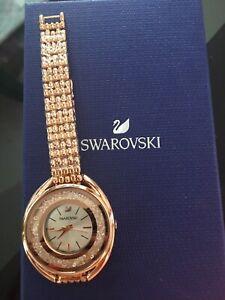 Schöne Armbanduhr Swarovski rosé Kristall Neu
