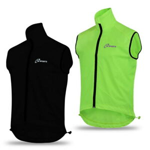 Mens cycling Gilet Shower Windproof Foldable Cycling Jacket Breathable Gilet New