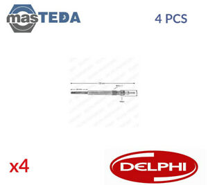 4x DELPHI ENGINE GLOW PLUGS HDS374 P NEW OE REPLACEMENT
