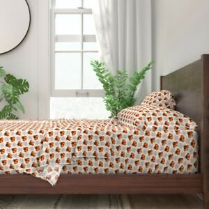 Gobble Turkeys Fall Autumn Kids Holiday 100% Cotton Sateen Sheet Set by Roostery