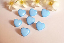 "1311B/Charming Buttons "" Small Heart "" Baby Child Sky Blue Ép. 1970/80"
