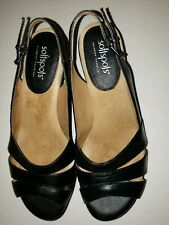 Softspots Neima Black Women Strap Shoes Heels 7.5M