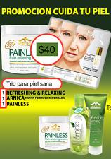 Juego de Painless Cream,  Arnica , y  Aloe Vera  para la Piel  de  ETERNAL