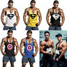 Supermen Captain America Men Gym Tank Tops Bodybuilding Fitness Stringer Workout