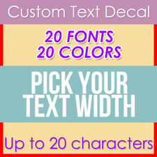 Custom Your Text Decal Name Vinyl Sticker Personalized Lettering Choose Width
