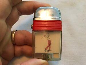 Golfer Vu  Lighter, 1950's By Scripto