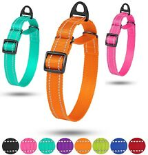 Martingale Dog Collar Reflective Nylon Training Collar Slip Choke Greyhound M L