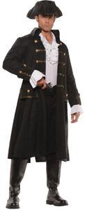 Captain Darkwater Adult Men's Costume Pirate Buccaneer Coat Halloween Underwraps