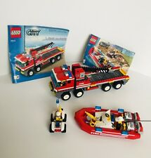 LEGO CITY FIRE 7213 OFF-ROAD FIRE TRUCK & FIREBOAT