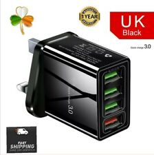 Quick Charge 4 port Fast 3.0 USB phone  Charger Adapter Uk plug  Samsung iPhone