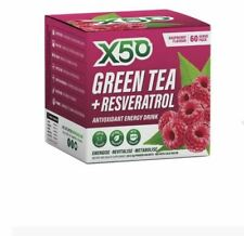 X50 Green Tea + Resveratrol Raspberry 60 Sachets