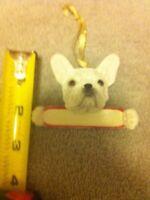 FRENCH BULLDOG---DOG  ORNAMENT--CHRISTMAS--RESIN--FREE SHIP--NEW