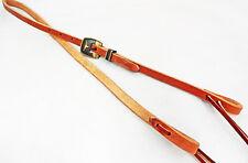 """Hermann Oak Harness Leather 1/2"""" Bosal Hackamore Hanger Br Iron Buckle Longhorn"""