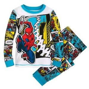New Disney store Spiderman Pajama Pj PAL Set 4,5,7,8,10