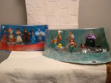 Disney Little Mermaid & Aladdin Figurine Play Set Cake Topper Jasmine Ariel