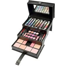 Beauty Case Schminkkoffer gefüllt 82 tlg Make up Set Kosmetik Kunstleder black