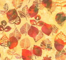 Hoffman Batik Bali Chop Graphic Leaf K2498-469 Nasturtium Cotton Batik Fabric