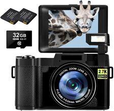 2.7K Digitalkamera 30MP Full HD 2.7K Kompaktkamera mit 3-Zoll-Flipscreen für You