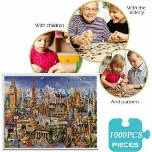 1000 Pieces Jigsaw Puzzles World Architecture For Adults Toy Game Artwork I6E3