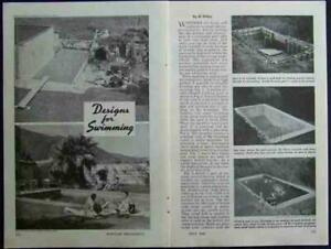 SWIMMING POOL In-Ground 1948 How-To build PLANS Reinforced Concrete