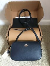 Coach Sadie Cross body and Clutch Bag, Navy, RRP £175 New With Tags