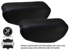 PURPLE Stitch 2x Sedile e braccioli in pelle copre Adatta Mitsubishi Pajero Shogun 90-01