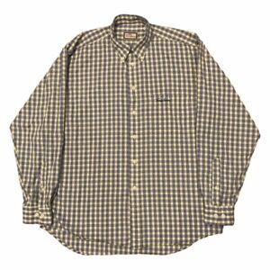"Vintage BURBERRY Shirt Classic Nova Check | Large L | Long Sleeve 50"" Chest"