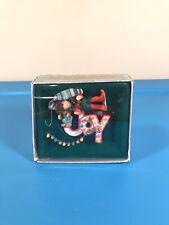 RARE Vintage 1984 ENESCO Treasury of Christmas E-6209 Joy to the World Ornament