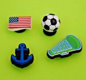 Crocs Jibbitz Charms *3-D Soccer Ball-Anchor-Flag-Megaphone *ALL 4 for $8.99 NEW