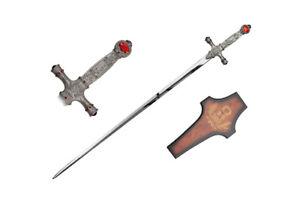 Harry Potter Godric Wizzard Gryffindor Fantasy Sword Blade Cosplay with Plaque