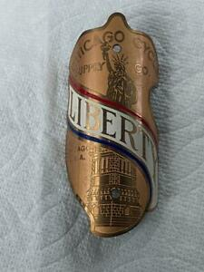 NOS vintage Schwinn LIBERTY bicycle Head Badge Chicago Cycle Supply Co