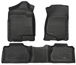 Husky Liners Front And Second Seat Floor Liners For 2007-2013 GMC Sierra 3500 HD