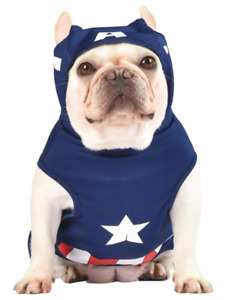 MARVEL Legends Captain America Dog Costume/Outfit FF14731 Sz XL Blue/Red/White