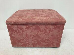 """Pink Upholstered Fabric Small Storage Box Ottoman Stool 14x16.5x10"""" G12"""