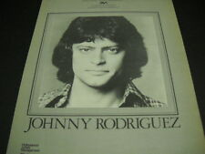 JOHNNY RODRIGUEZ repped by P.A.M. original 1978 PROMO POSTER AD mint condition