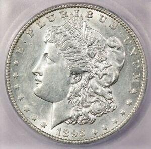 1893-O 1893 Morgan Silver Dollar ICG AU58