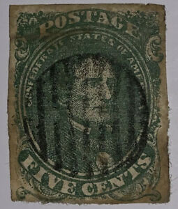 Travelstamps: US CSA Stamps Scott #1 Used Confederate Stamp, Used Ng Nice Cancel