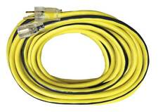 Voltec 100' Yellow Power Cord with Lighted End, 12/3, 05-00366