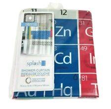"New Splash Home Shower Curtain Peva Vinyl Periodic Table 70"" x 72"""