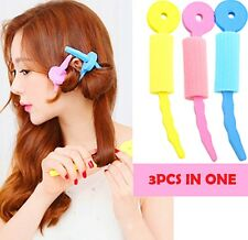 FD3126 Lady Hair Sponge Soft Hair Curler Spiral Curls Roller DIY Salon Tool 3PCs