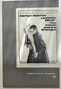 1957 Pressbook  The Prince and the Showgirl  Marilyn Monroe  Laurence Olivier