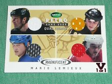 15-16 ITG VAULT Mario Lemieux Magnificent Inserts Game-Used Quad Jersey 1/1 WOW