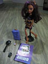 Monster High Clawdeen Wolf with accessories Excellent