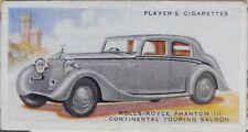 No.39 ROLLS ROYCE PHANTOM III CONT TOURING - MOTOR CARS 2nd SERIES - Player 1937
