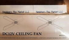 "42"" DC12V Ceiling Fan for RV with Wall Control RV42RB Rustic Bronze BLK/OAK *S59"