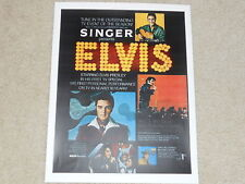 "Elvis 1968 TV NBC Special Ad Mini-Poster, 8"" by 11"" Ready to Frame!"