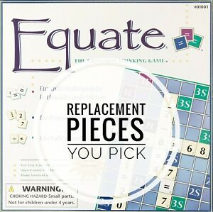 Equate Math Game Replacement Pieces Multiplication Division Addition Subtraction