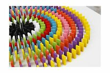 100pcs 12 Colors Standard Wooden Games Dominos Set Kids Racing ... Free Shipping